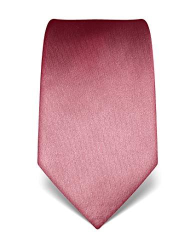 Vincenzo Boretti Herren Krawatte reine Seide uni einfarbig edel Männer-Design zum Hemd mit Anzug für Business Hochzeit 8 cm schmal/breit altrosa