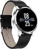 Smart Watch Männer und Frauen Smart Sports Uhr im Freien, mit wasserdichtem Touchscreen Schlaf und Blutdruck Sauerstoff Überwachung Kalorien / Zähler, Fitness-Tracker trainieren-Goldstahlgürtel