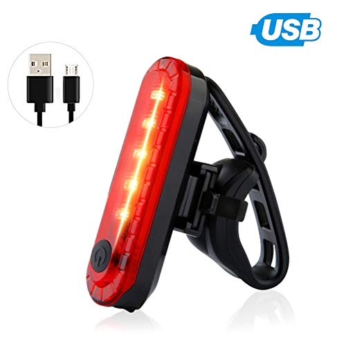 1 Pack Rear Bike Tail Light for Mountain Bike Ultra Bright USB Rechargeable Bicycle Taillights Red High Intensity Led