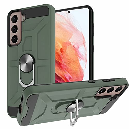 Funda magnética para Samsung Galaxy A12 con soporte para anillo [grado militar] protectora de silicona resistente a los golpes de la armadura dura del teléfono para Samsung Galaxy A12 verde