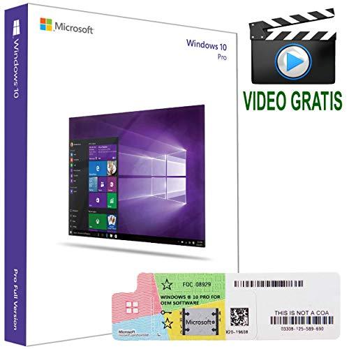 Windows 10 Pro, Licenza 32-64 Bit Product Key, Chiave Esd Attivazione Italiano. Win Oem Professional Coa, Licenze Sistema Operativo Microsoft Usb-CD Ita.