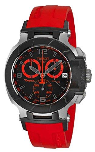 Tissot T048.417.27.057.02 T-Race - Reloj de pulsera para hombre, cronógrafo, color negro