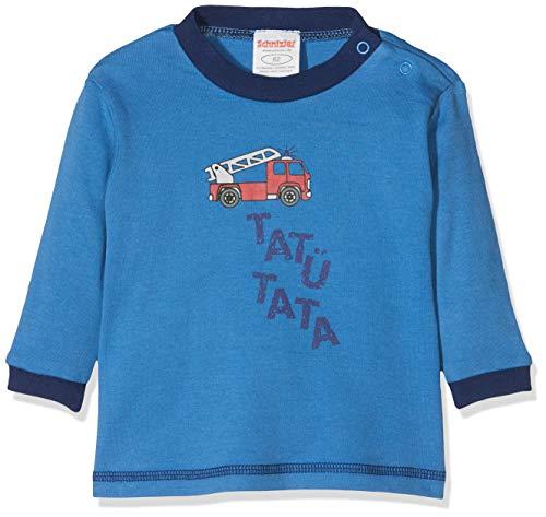 Schnizler Sweat-Shirt Interlock Feuerwehr Manches Longues, Bleu (7), 2 Mois Bébé Fille