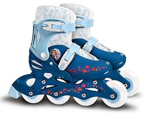 Kinder Inliner Inline Rolle Skates Skater Inlineskating Rollschuhe Disney Frozen ELSA die Eiskönigin verstellbar Größe 30 31 32 33 Stamp RN244302