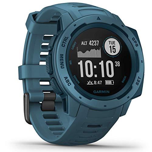Garmin Instinct – wasserdichte Sport-Smartwatch mit Smartphone Benachrichtigungen und Sport-/Fitnessfunktionen mit GPS, 14 Tage Akkulaufzeit, Petrolblau