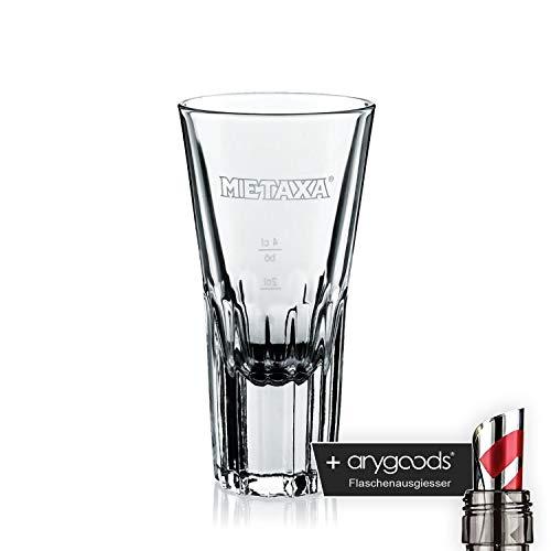 Metaxa Glas Gläser Weinbrand Brandy Selten Gastro Bar Deko NEU + anygoods Flaschenausgiesser