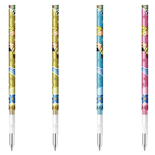 ゼブラ サラサセレクト用 0.5mm替芯4本セット(3デザイン・3色) ディズニープリンセス RNJK5-DSP2 キラキラインク 金 シャイニーブルー シャイニーピンク ZEBRA