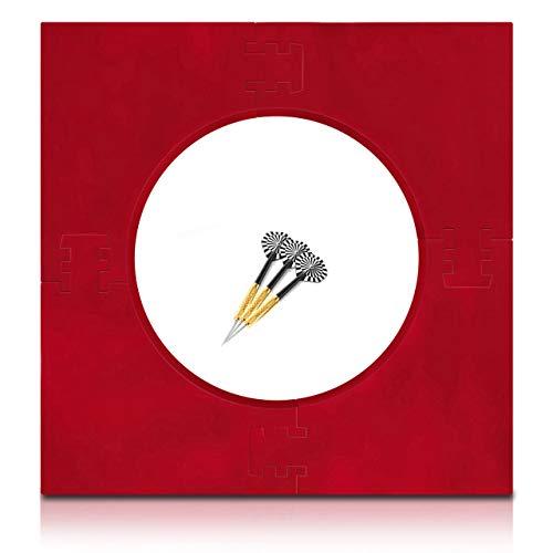 ProDarts Dart Surround für alle Marken-Dartscheiben – Dart Auffang-Feld in Rot – hochwertige stabile Umrandung – Wandschutz für das Dartboard ohne Zusatzbefestigung – professionelle Optik