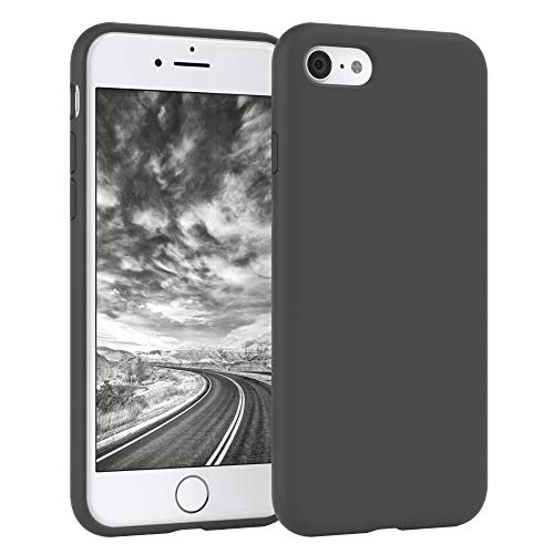 EAZY CASE Premium Silikon Handyhülle kompatibel mit Apple iPhone 8/7 / SE (2020), Slimcover mit Kameraschutz & Innenfutter, Silikonhülle, Schutzhülle, Bumper, Handy Hülle, Softcase, Anthrazit