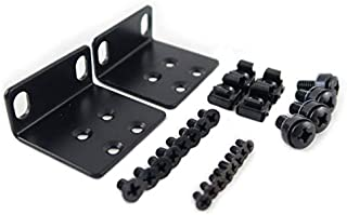 "RoutersWholesale Rack Mount Kit Compatible with Many 17.3"" Wide Buffalo Tech, Cisco, Dell, D-Link, Linksys, NETGEAR, and T..."