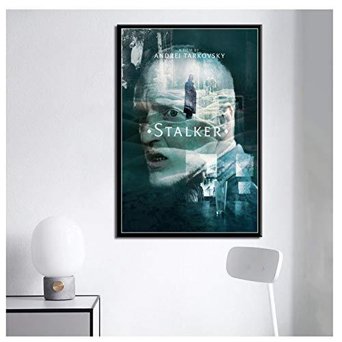 Stalker Movie Art Malerei Leinwand Poster Wand Wohnkultur Druck auf Leinwand 20x28 IN No Frame