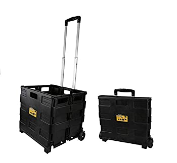 Olympia Tools 85-010 Grand Pack-N-Roll Portable Tools Carrier with Telescopic Handle 80 Lb Load Capacity Black