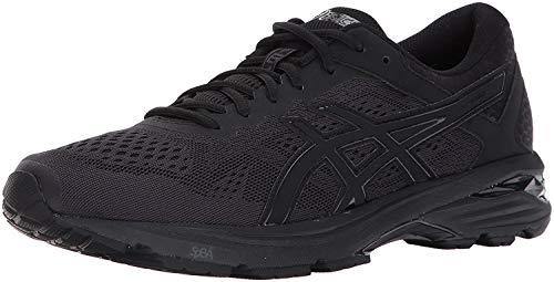 ASICS Men's GT-1000 6 Running Shoe, Black/Black/Silver, 7 4E US