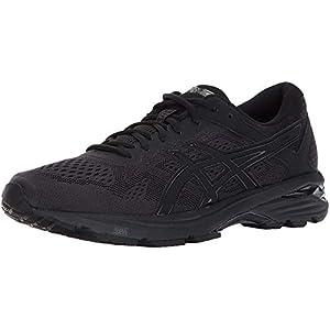 ASICS Men's GT-1000 6 Running Shoe, Black/Black/Silver, 8 4E US