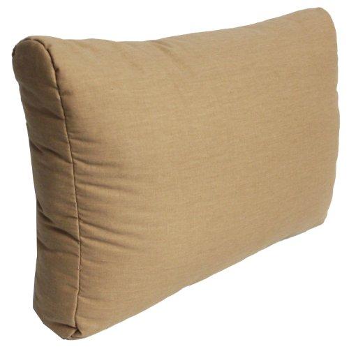 Beo Rückenkissen Sofa 60x40 cm | Made in EU Lounge Kissen wasserabweisend Sand | Couchkissen groß | Polster Outdoor für Rattan Lounge | Palettenkissen Rückenkissen passgenau für Europaletten