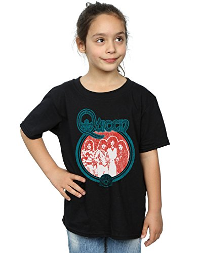 Official Girls Retro Queen 1970s T-shirt, Ages 5 to 13 Years