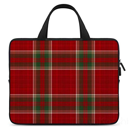 17 Inch Laptop Sleeve Red Plaid Case/Water-Resistant Notebook Computer Pocket Tablet Briefcase Carrying Bag/Pouch Skin Cover For Acer/Asus/Dell/Lenovo