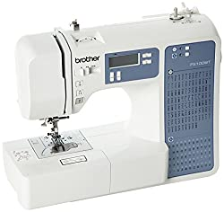 100 Stitch Electronic Sewing Machine with Needle Threader and 1 lettering style Quick Set Drop in Bobbin and Drop Feed Mechanism Start/ Stop button and speed control which also enables speed limiting Quick touch stitch selection and length & width ad...