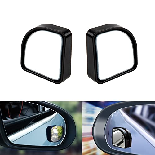 Xotic Tech Blind Spot Mirror, Rear View Adjustable Wide Angle, Stick-on Black...