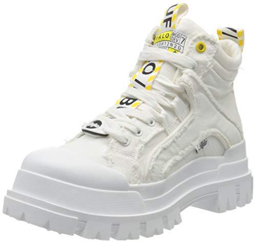 Buffalo Damen Panthera MID Combat Boots, Weiß (White 000), 38 EU