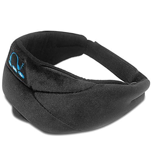 Schlafkopfhörer, 3D-Schlafmaske Bluetooth 5.0 Wireless Music Eye Mask, Bluetooth 5.0 Music Sleep Mask Augenmaske Wireless Stereo-Kopfhörer 3D Sleeping Eye Cover Weiche Ohrhörer mit verstellbarem Gurt