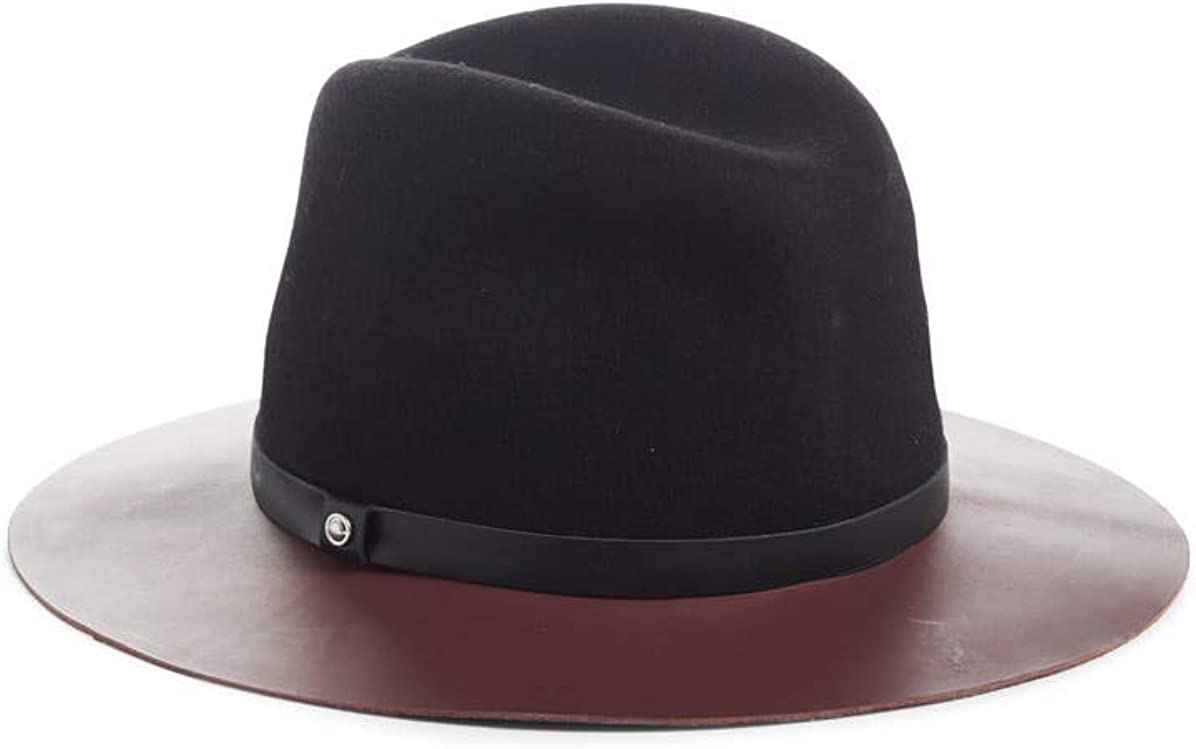 rag & bone Women's Wool & Leather Fedora Hat