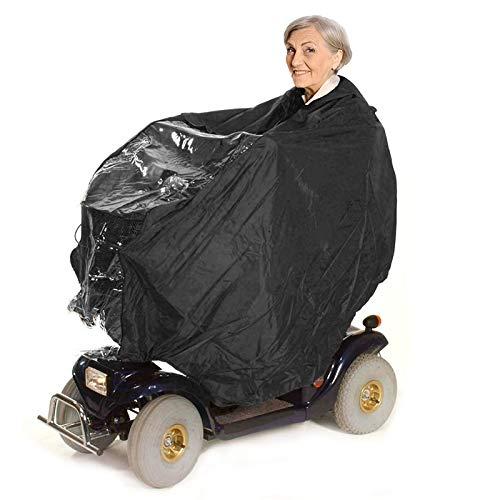 Bramble Poncho de Lluvia Universal para Scooter de Movilidad y Silla de Ruedas Eléctrica con Capucha y Panel Transparente - Impermeable, a Prueba de Viento y Ligero ✅