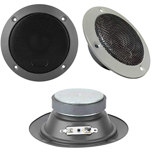 "1 Web SG-4M Altavoz midrange 4"" 10.00 cm 100 mm de diámetro 60 vatios rms 120 vatios MAX impedancia 8 ohmios sensibilidad 89 db spl casa, 1 Pieza"