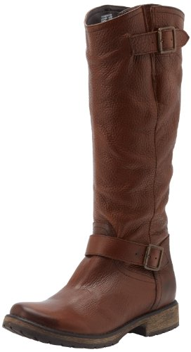 Hot Sale Steve Madden Women's Fairmont Knee-High Boot,Brown Leather,7 M US