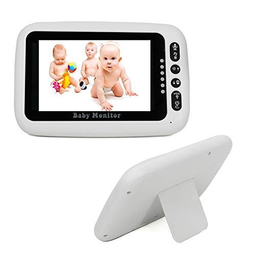 Vigilabebés Inalambrico 4.3 Monitor Lcd Con Intercomunicador y FuncióN de Alarma Soporte de VisióN Nocturna Hd Para ReproduccióN de Canciones de Cuna CáMara de Video Digital InaláMbrica para BebéS