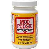 Plaid:Craft Plaid MOD Podge Opaco 8oz / 236ml, Bianco, 230 g