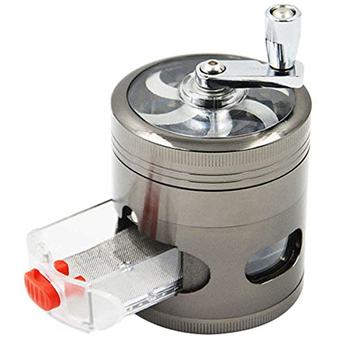 WEGRIND Spice Grinder with Handle, Hand Cranked Herb Grinder, Portable Herb Grinder with Drawer Grinding Dried Leaf…