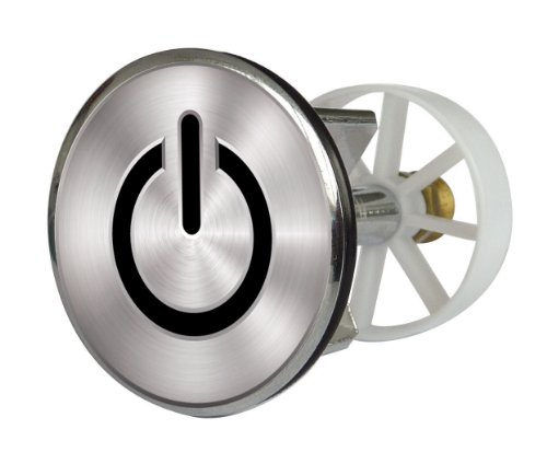 Waschbeckenstöpsel Design On and Off | Abfluss-Stopfen aus Metall | Excenterstopfen 38 – 40 mm