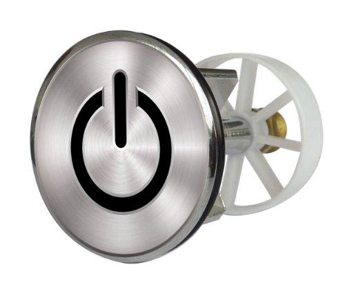 Waschbeckenstöpsel Design On and Off   Abfluss-Stopfen aus Metall   Excenterstopfen   38 – 40 mm