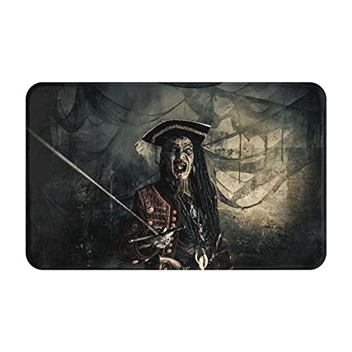 CVSANALA Antideslizante Suave Alfombra de Baño,Fantástico Aventuras Novela Terrible Malvado Pirata,Micro Personalizado Decoración del Hogar Baño Alfombra de Piso,80 x 49 CM