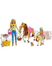 Barbie GLL70 – ridsport lekset med barbie (blond), chelsea, häst och pony, dockor leksak från 3 år