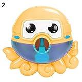 RIsxffp Máquina de Burbujas de Baño para para Bebés ,Juguetes de Baño de Máquina de Burbuja con 12 Nursery Música Automático Canalón Bañera de Burbujas para Niños Ducha Orange