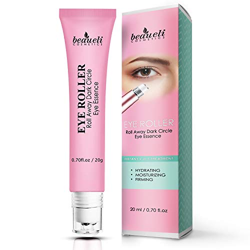 41 SPbM70hL - Eye Serum & Eye Roller for Anti Aging Dark Circles Puffiness Under Eye Bags Wrinkles Eye Cream Massager with Peptide Hyaluronic Acid Niacinamide 0.7 fl.oz by beaueli