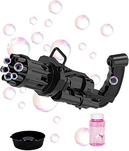 PGG-bro Gatling Bubble Machine, 2021 Electric Bubble Gun Toy, 8-Hole Huge Amount Bubble Maker, Newly...