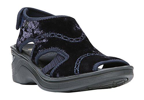 Price comparison product image BZees Women's Drama Wedge Sandal,  Blue Velvet,  10 B(M) US