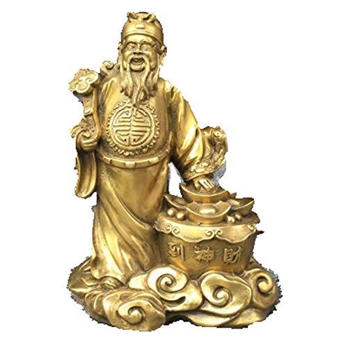 Liangliang988 Apertura de la fortuna de cobre puro a la estación de decoración, el dios de la riqueza, el dios de la riqueza, la estatua de bronce del tesoro, el dios de la riqueza, el dios de la riqueza, el feng shui de la suerte