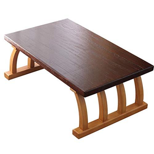 Mesa de negociación CDingQ Home Office Desk, estilo retro, tablero grueso de madera, mesa auxiliar, salón de té, sala de estudio, sala de estar, mesa de café, libros, mesa de almacenamiento