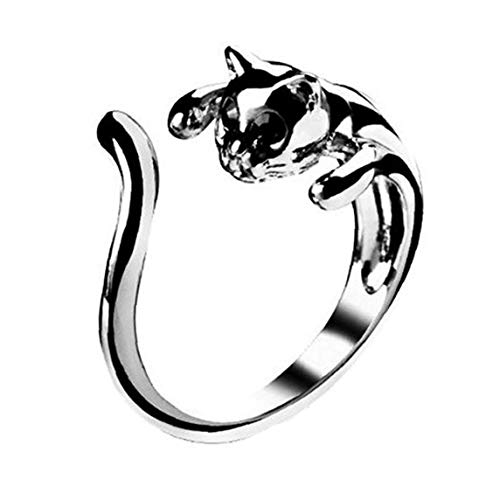 Tier Ring-Weinlese Anel Punk Ehering Boho Chic Retro Katzen-Ringe für Frauen-Partei-Ringe