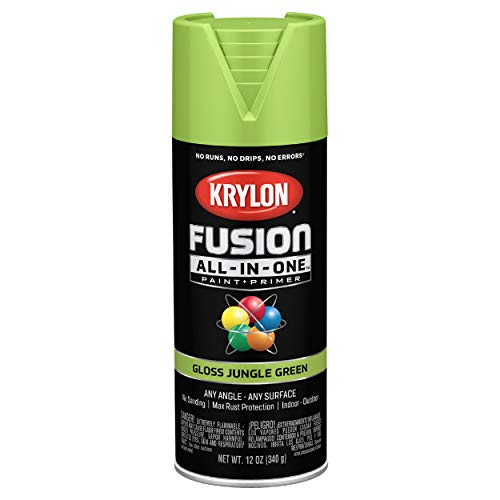 Krylon K02712007 Fusion All-In-One Spray Paint for Indoor/Outdoor Use, Gloss Jungle Green