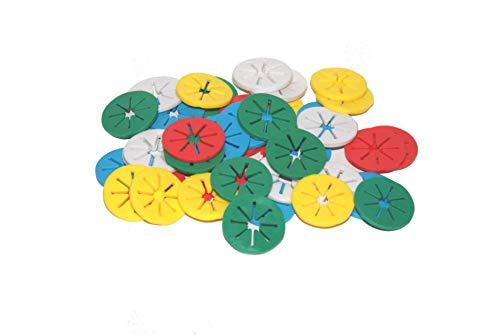 Sockensammler 40 Stück - Sockenclips - je 5 in einer Farbe - waschmaschinenfest trocknergeeignet - Familienset