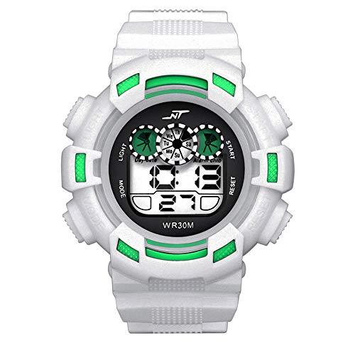 Herren Digitale Armbanduhr, Outdoor Laufen 5 Bar wasserdichte militärische Uhren, Cool Sport große Anzeige LED Sportuhr mit Wecker für Herren