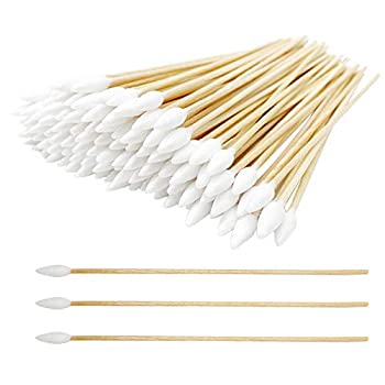 6 Inch Long Cotton Swabs 800pcs for Gun Cleaning Makeup or Pets