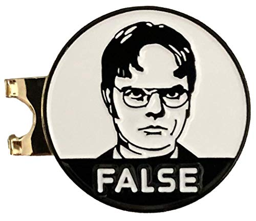 Balanced Co. Dwight Schrute False Hat Clip with Enamel Magnetic Ball Marker