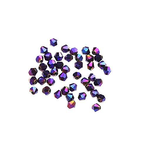 100pcs Multi usos Perlas de Cristal de Rondelle Bolitas de Vidrio de...