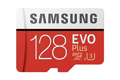 Samsung EVO Plus 128GB microSDXC UHS-I U3 100MB/s Full HD & 4K UHD Memory Card with Adapter (MB-MC128HA)